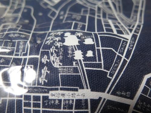 古地図トート 浅草辺り