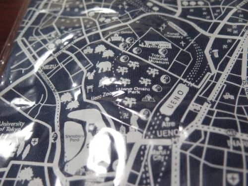 古地図トート 上野辺り現在