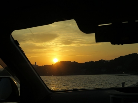 浜名湖の夕陽