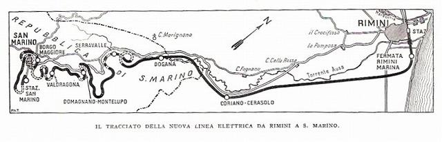 サンマリノ登山鉄道地図
