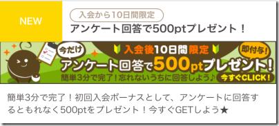 入会10日間限定アンケート