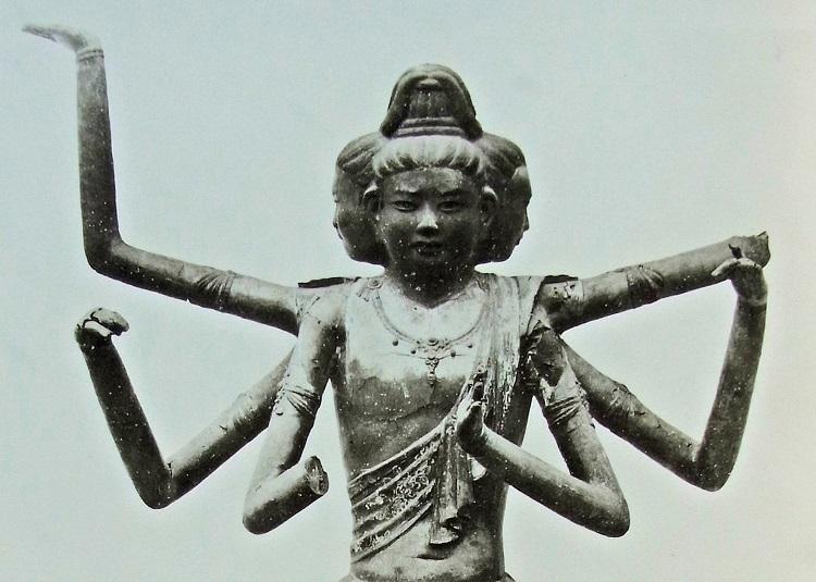 明治修理以前の阿修羅像の写真(明治27年・工藤精華撮影)