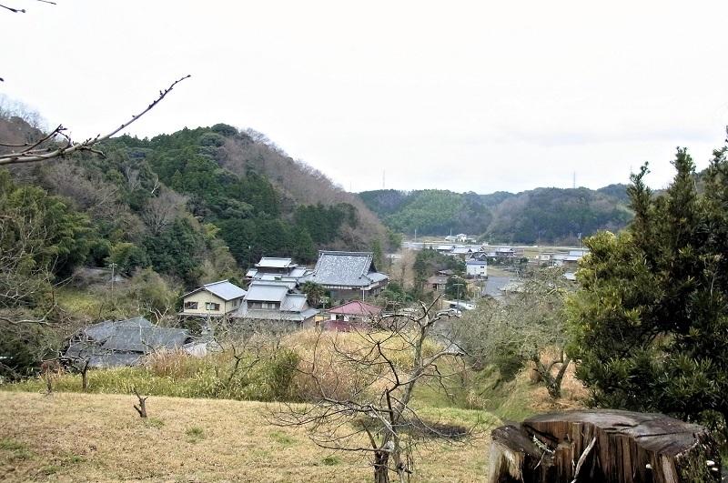 光善寺・収蔵庫から見晴るかす村落の風景