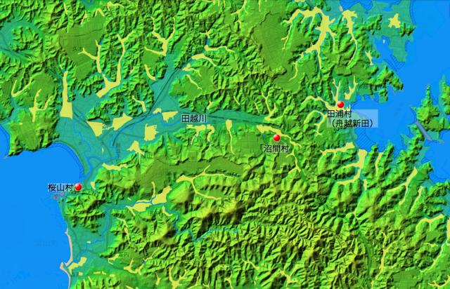 桜山・沼間・田浦の位置関係