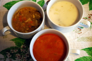スープ3つ