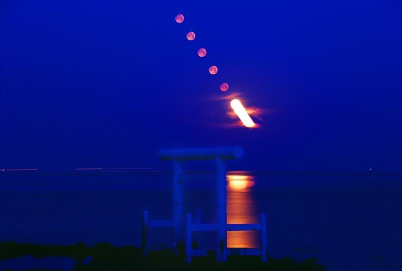 2017-0312-二見が浦鳥居と沈む月