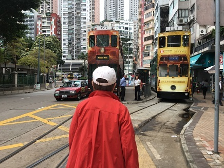 4222017 香港観光 香港島2階建電車S3