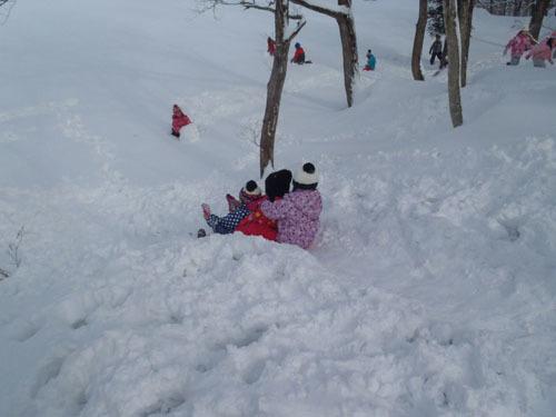 雪すべり1