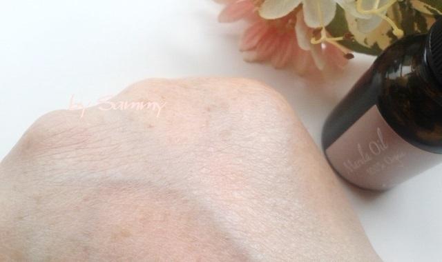 ヴァーチェ マルラオイル 塗った肌