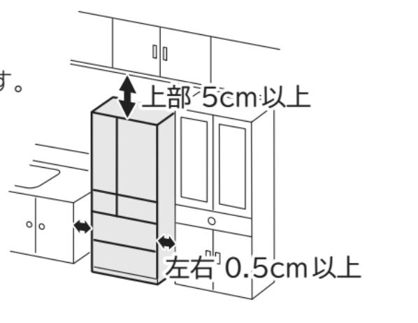 冷蔵庫左右スペース