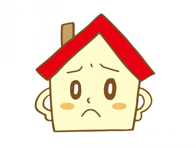 困り顔の家