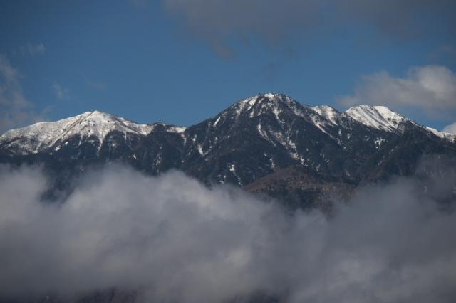 残雪の鳳凰三山