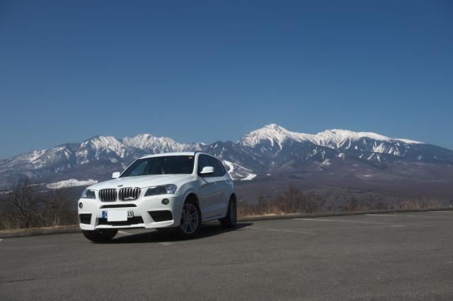 八ヶ岳連峰の眺望とX3