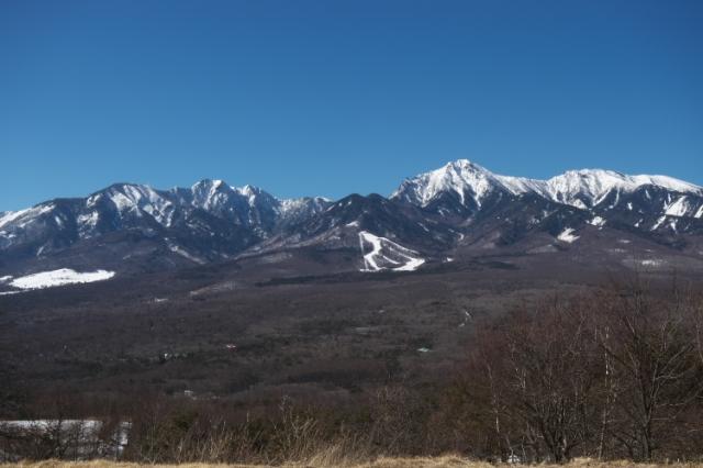 平沢峠からの八ヶ岳連峰