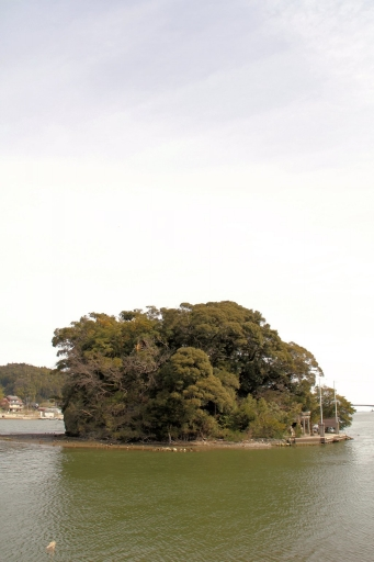 塩盾島の全景