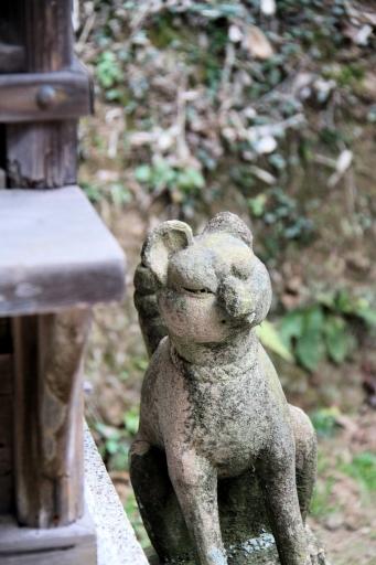 法吉神社境内社稲荷神社の狛狐