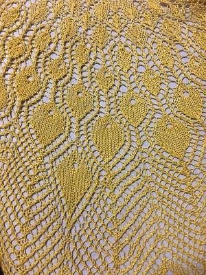 20170326 中国の編物本 孔雀の羽模様のショール