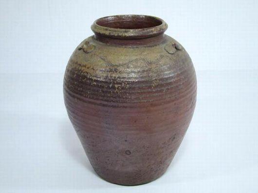 古い備前焼 陶印あり 壷 花瓶