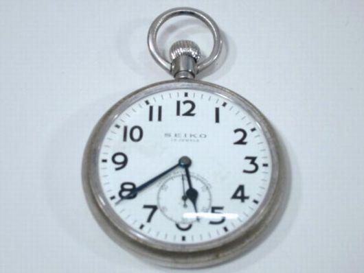 セイコー 15石 セコンドセッティング 懐中時計