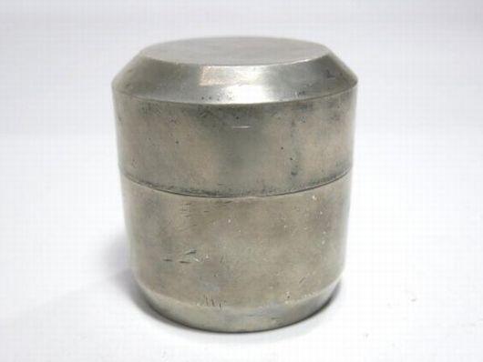 古錫 在銘 棗形 茶入 茶壷