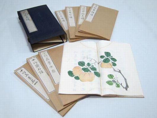 十竹斎書画譜 8冊 木版色刷 中国美術