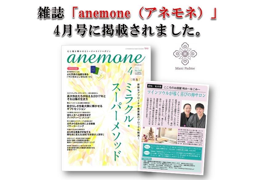 anemone4月号掲載