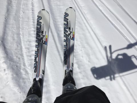 スキー板が馴染んできた