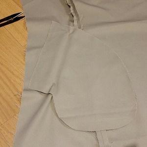 トレンチコート箱ポケット