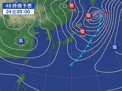 24日天気図