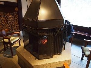 平湯温泉 暖炉