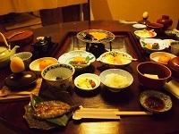 平湯温泉 朝食1