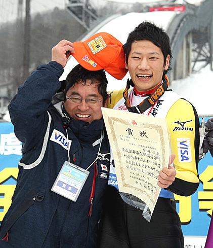 原田選手と門脇先生