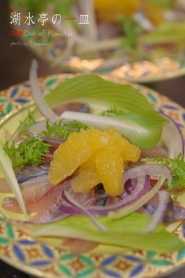 鯵と橙のサラダ仕立て
