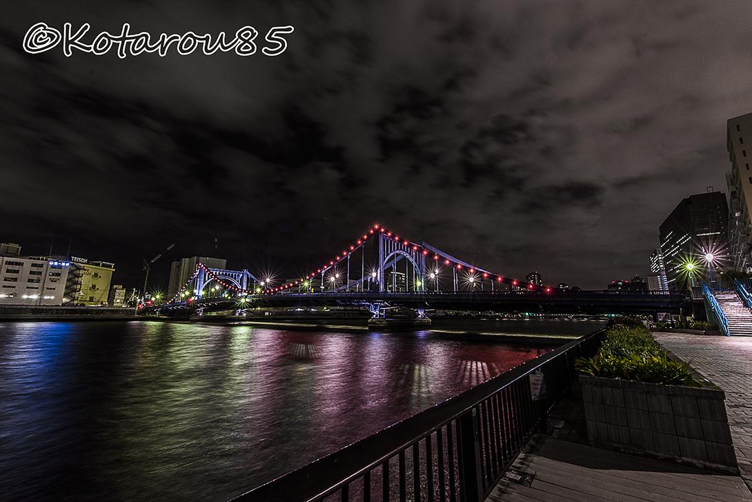 深夜の清洲橋 20170225