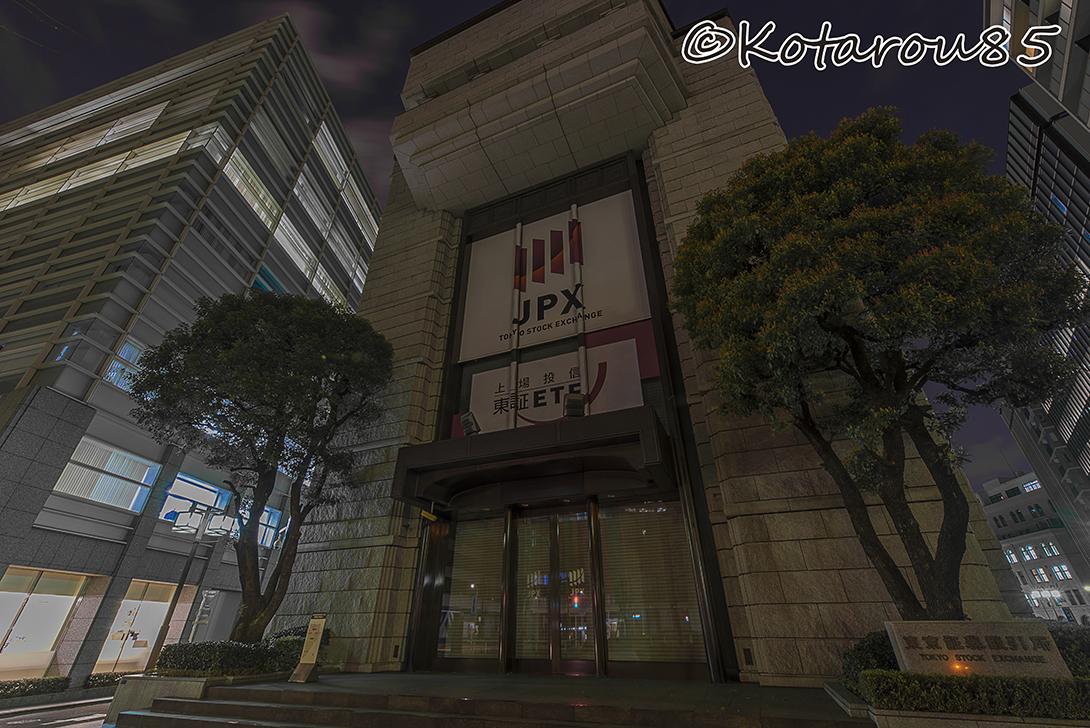 春の深夜 東京証券取引所 20170324