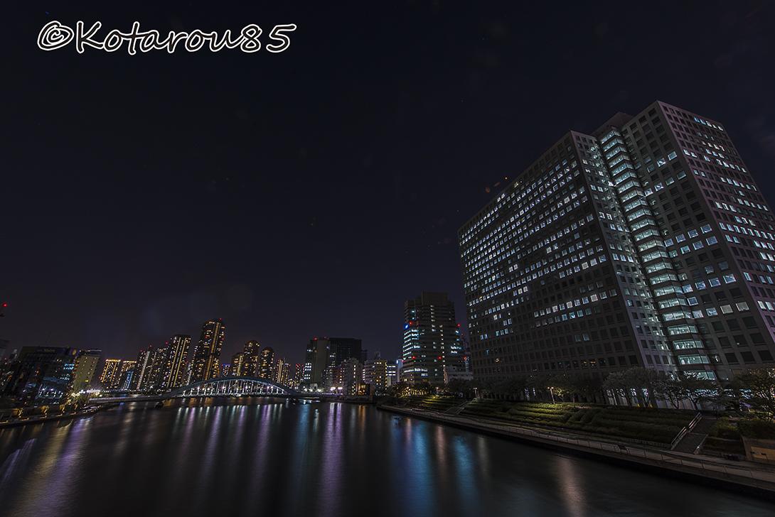 深夜の隅田川大橋2 20170414