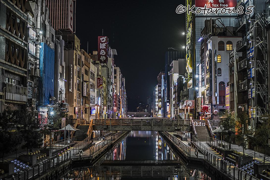 深夜の道頓堀川 20170421