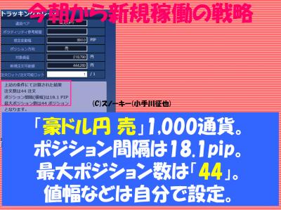 20170214トラッキングトレード検証豪ドル円ショート