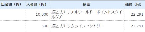 ジャパンネット銀行2月