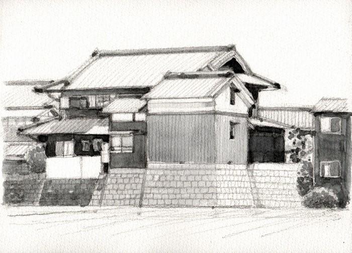 関西の民家 グリザイユ (700x502)