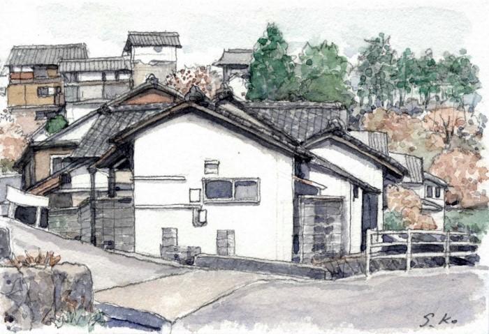 加茂町の風景2  ハガキ (700x479)