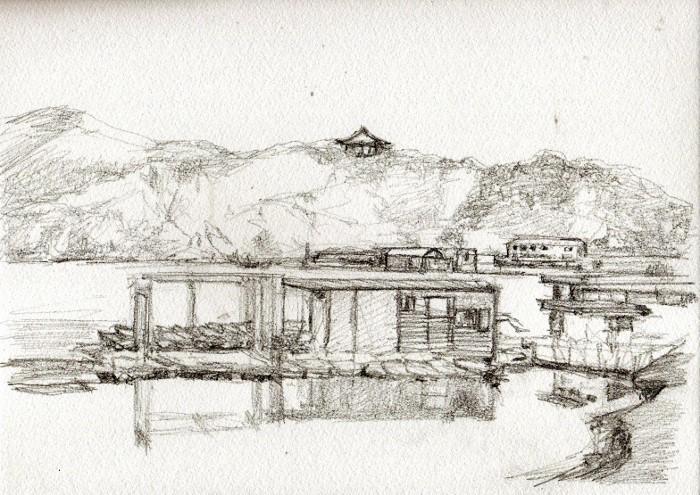 東条湖 デッサン (700x495)