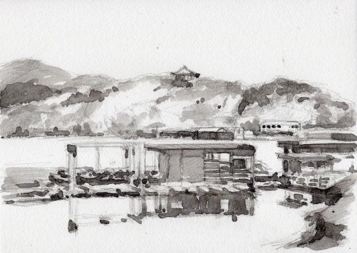 東条湖 グリザイユ (700x496)