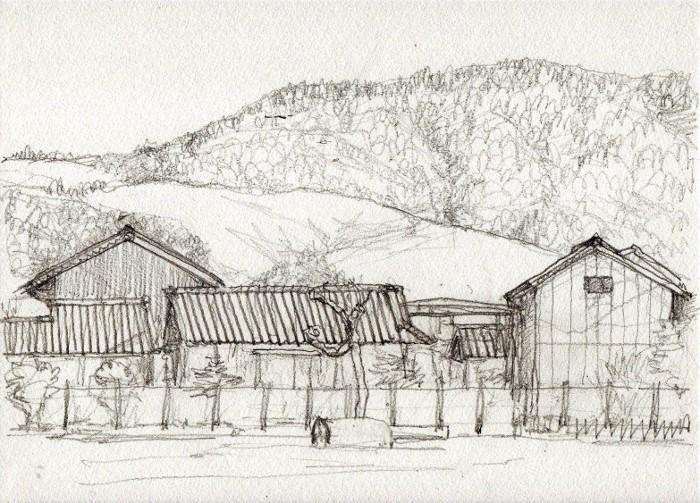 奈良の若草山 デッサン (700x503)
