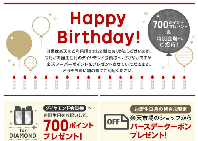 誕生日メール