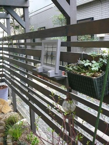 庭の飾りつけ
