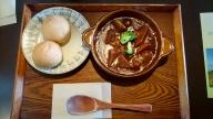 昼食は売店の「ビーフシチューセット」(¥1,100)