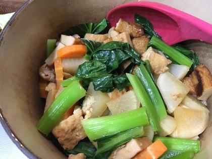 根菜と厚揚げの煮物