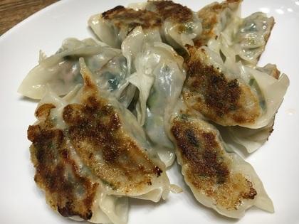 挽肉と小松菜の餃子