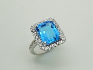 青い石のリングAfter1